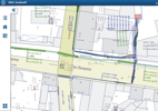 MGC map information app for tablets. The GIS data is presented online and offline.