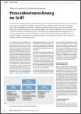 """Artikel """"Prozesskostenrechnung im Griff"""""""