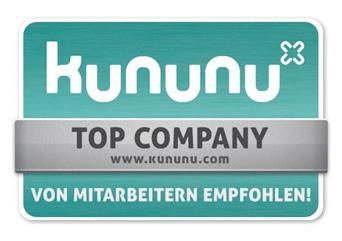Kununu - Top Company von Mitarbeitern empfohlen