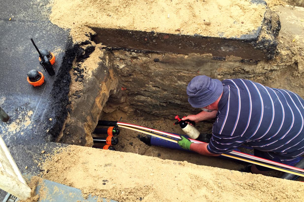 Verlegung von Breitbandnetzen und LWL-Leerrohren