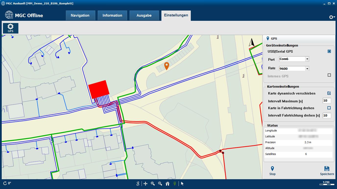 MGC Offline - Funktion GPS