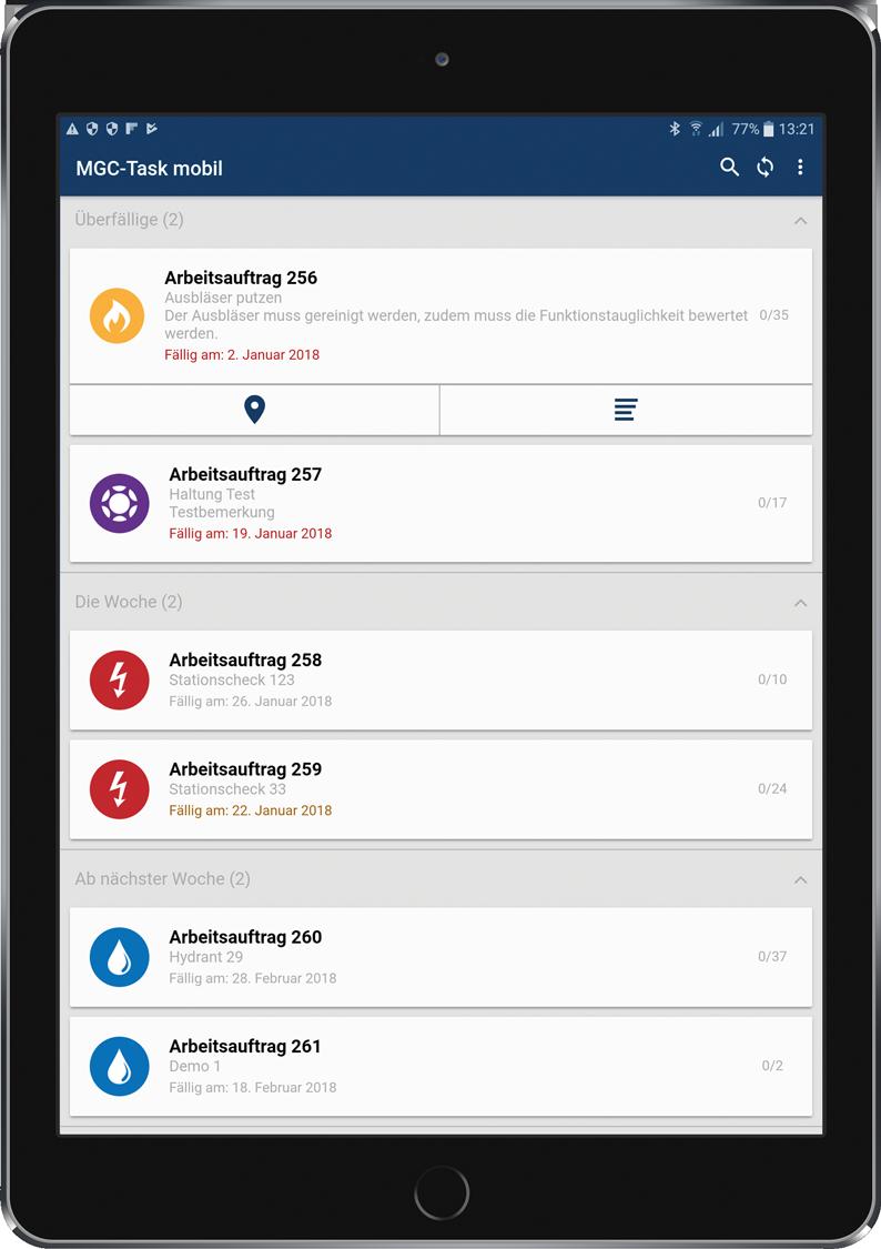 Terminierte Maßnahmen zur mobilen Auftragsbearbeitung im Außendienst
