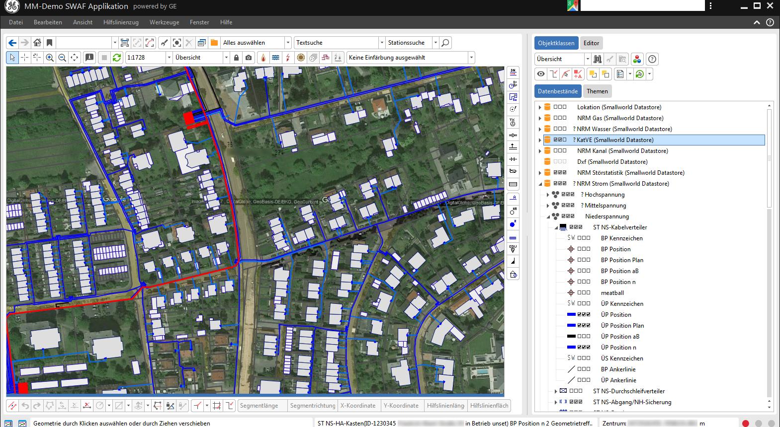 Smallworld 5 - Fachschale Strom mit Googledaten