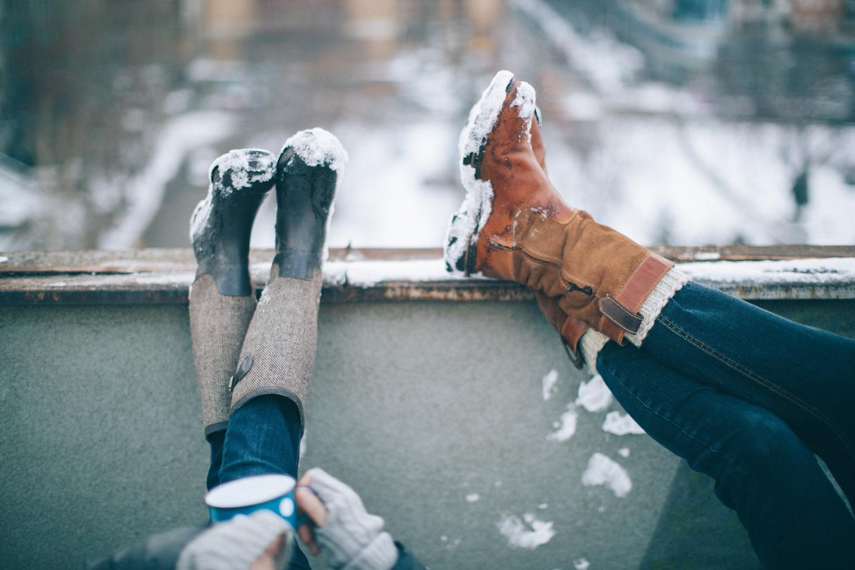 Die Füße hochlegen und entspannen